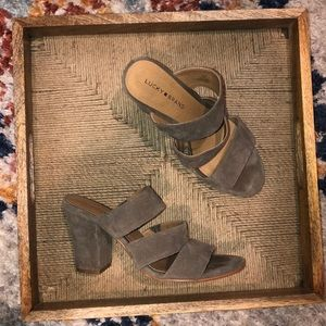 Lucky brand straps mules